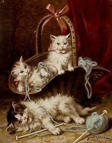 de Merveilleux chats en peinture