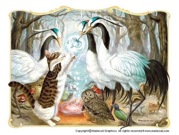 trés jolies toiles de Mariecat
