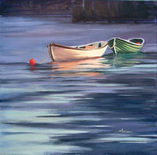 rub mer et bateaux en peintures