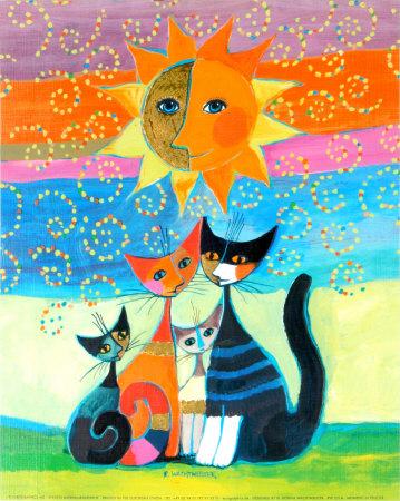 superbes chats en peinture. peint par ROSINA WACHTMEISTER