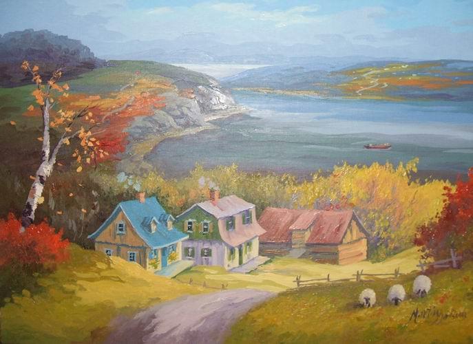 Peintures de martin desbiens for Peintures maison
