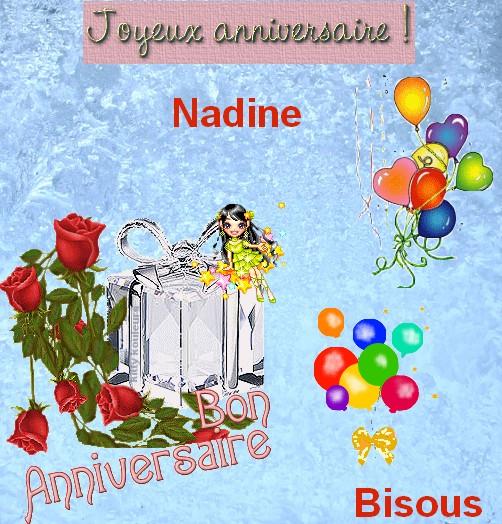 """Résultat de recherche d'images pour """"bon anniversaire Nadine"""""""